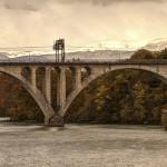 Женева, мост на стрелке Роны и Арва